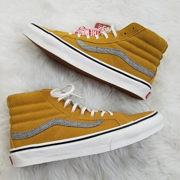 2a820746d5 Vans Sk8-Hi Slim Suede Amber Gold W 9 M 7.5 NIB